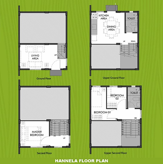 Hannela Floor Plan House and Lot in Palawan