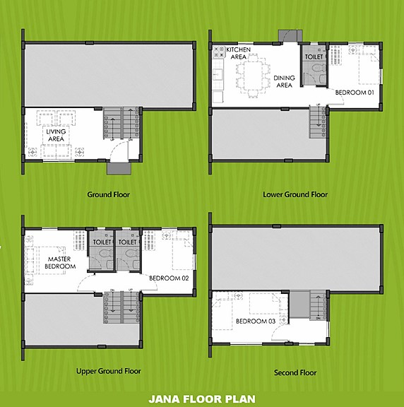 Janna Floor Plan House and Lot in Palawan