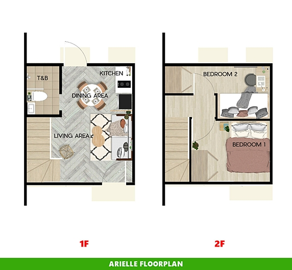 Arielle Floor Plan House and Lot in Palawan