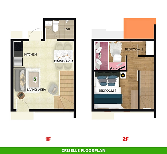 Criselle Floor Plan House and Lot in Palawan
