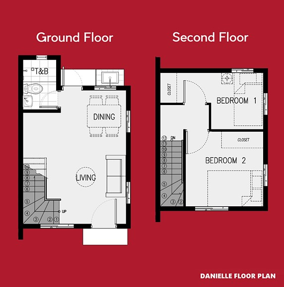 Danielle Floor Plan House and Lot in Palawan