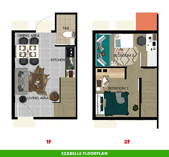Ezabelle Floor Plan House and Lot in Palawan